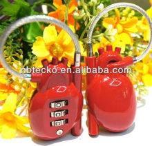 Human heart shape combination lock