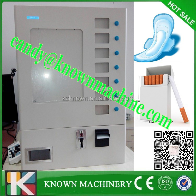 automatical sanitary napkins vending machine/ condom vending machine for 7 selections