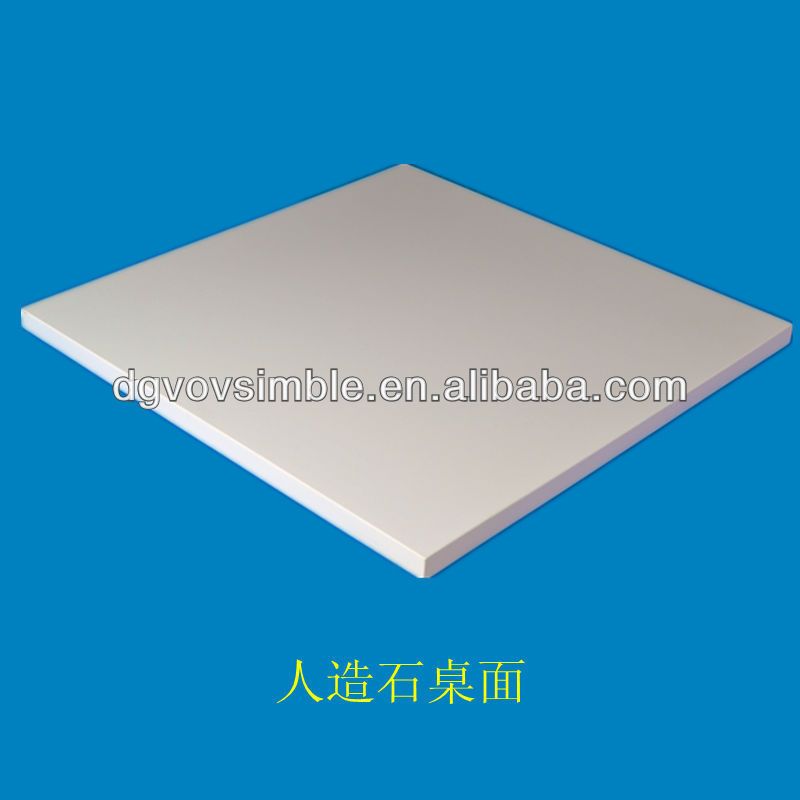 square acrylic resin table top white color