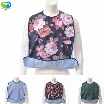 Printing Waterproof Reusable Adult Bib / Cooking Apron Wholesale Bibs For Adult