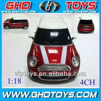 1:18 model car,4ch rc car,simulated remote control toy car
