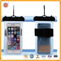 Pvc Waterproof Cell Phone Bag/case With Lanyard