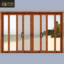Aluminium 3 tracks sliding screen doors with fly screen net