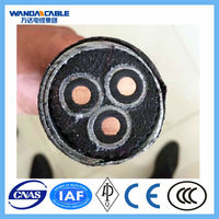 3 Core Media Voltage Rubber Insulated Galvanized/Stainless Steel Tape Armor, Low price flat cable