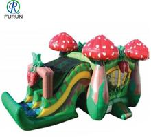 Cheap price inflatable mushroom bounce house for yard, mushroom jumping