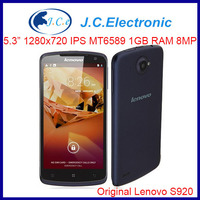 Original Lenovo S920 Multi language Mobile phone 5.3IPS 1280x720 MTK6589 Quadcore1.2G 1GRAM 4GROM Android 4.2 8MP