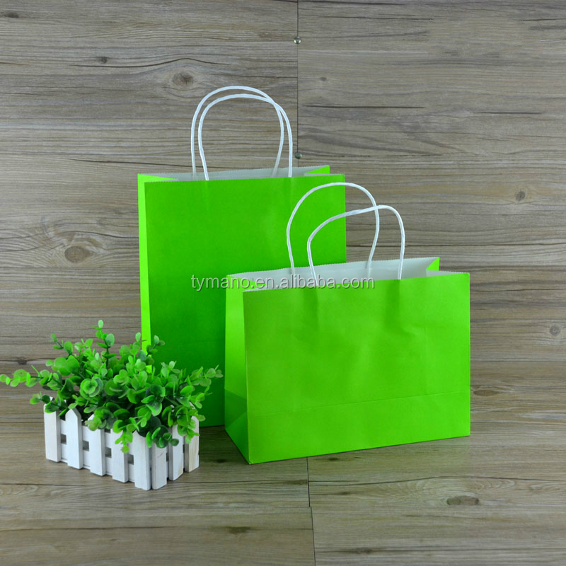 Wholesale customize printing logo design shopping packaging flat handle paper grocery bags