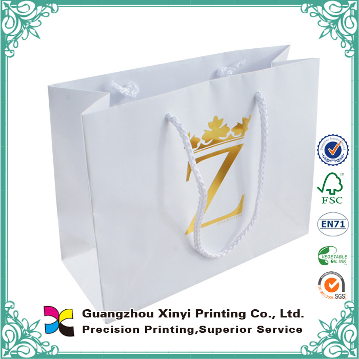 Logo Hot foil Colorful Cheap Shopping Custom Paper Wholesale Bag