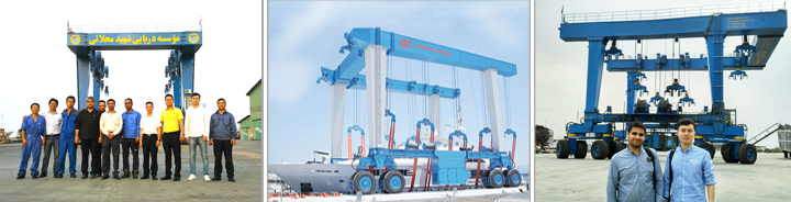 Weihua 2years free after-sales service mobile boat hoist ,yacht handling machine,boat lifting gantry crane