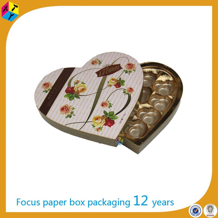 chinese gift paper heart shaped candy box