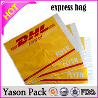Yason waterproof express bag high quality full color printing destructive glue plastic custom courier bags china factory ldpe p