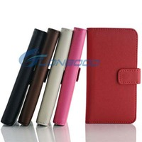 Multicolor Flip Stand Wallet Leather Mobile Phone Case For iPhone 5 5G 5S