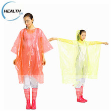 Unique And Fashion Style Plastic Disposable Poncho