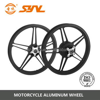black motorcycle alloy wheels