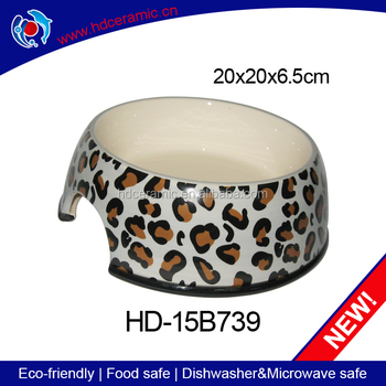 Personalize healthy feed trough,ceramic dog bowls