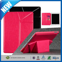 C&T Luxury Genuine credit card pocket leather cover case for ipad air 2