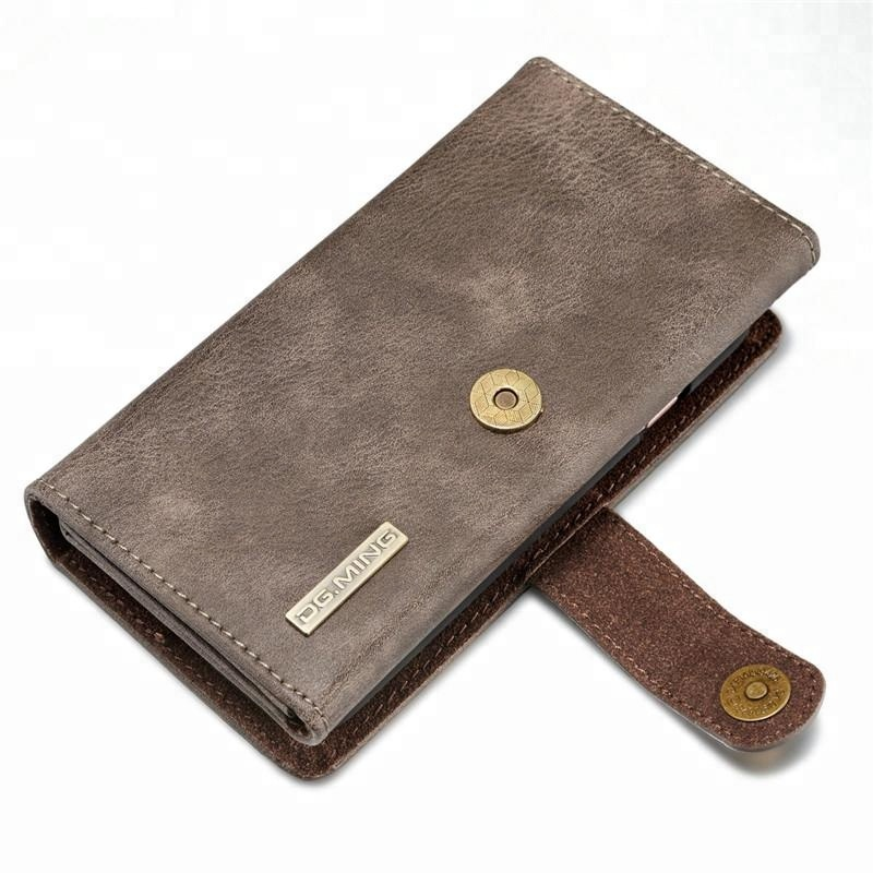 Wallet Card Pocket Leather Tri-fold Combo Phone Case