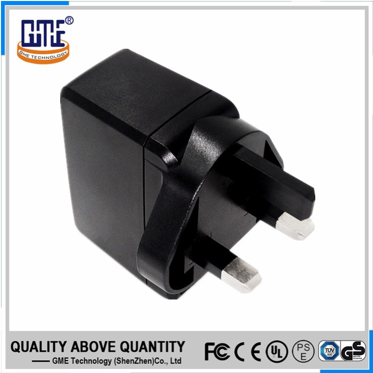 High efficiency CE certified UK dc 5v 2a wall adaptor for IT and AV Device