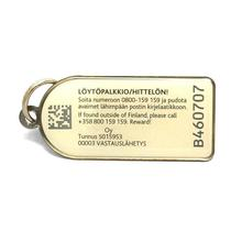 zinc alloy blank to be engraved keychain