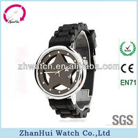 2013 new hot star watches black kids silicone sports watch hoe sold on Alibaba shenzhen watch factory and trading company