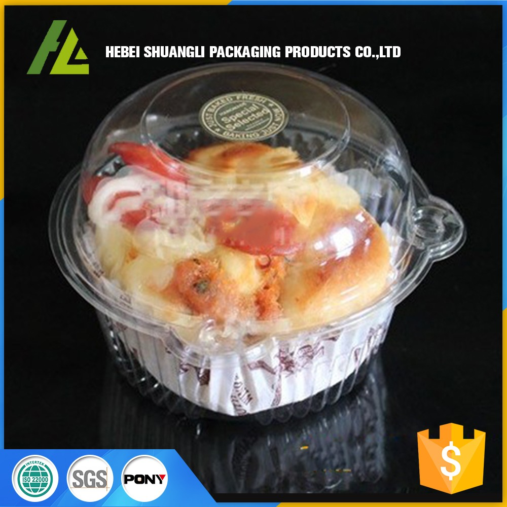 Food grade Transparent plastic cake and cupcake boxes