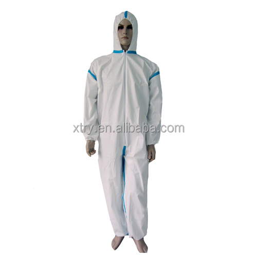 Safety equipment personal protective disposable taped microporous coverall
