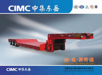 CIMC Direct Factory lowboy trailer 100 ton