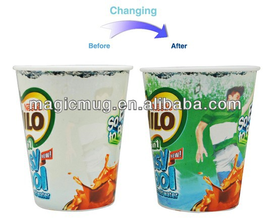 FDA,SGS approved cold color changing plastic tumbler for nestle milo