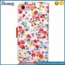 Free sample phone case beautiful elegant PU mobile phone cover for iphone 7