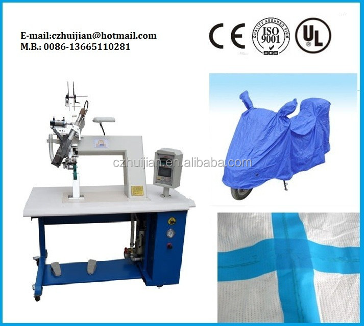 Hot air seam sealing machine to inflate balloons