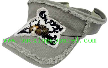 frayed peak and crown washed sun visor cap