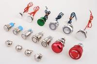 100MA symbol illuminated led metal pushbutton switch
