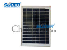 Suoer China Mini Solar Panel 12V 20W Sunpower Solar Cell