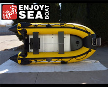 (CE)320 semi rigid inflatable portable boat with foldable aluminum floor