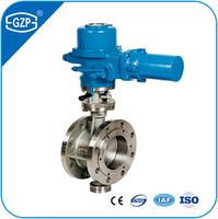 Electric Motor Power Electronic Operated Cast Stainless Steel Butterfly Valves with RF RJ RTJ FF FM TG MFM Flanged Connection