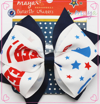 Cheerleading Black hair bow hair clips(approved by BV)