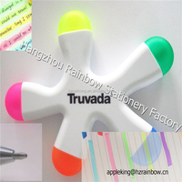Popular For gift and present to kids 5 in 1 star shape text marker fluorescent pen CH-6229