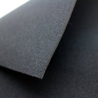 2mm Black Neoprene Fabric Stretch Fabric Neoprene, Diving suit neoprene with nylon/polyester fabric