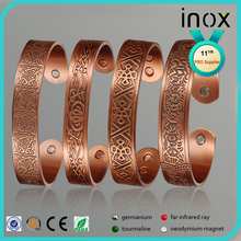 wholesale jewelry magnetic copper bracelet with gold or rose gold plated