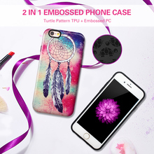 Special design glossy UV coating custom print embossed cell phone case for Apple iPhone 6s