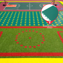 New product hot sale playground running track suspended plastic flooring from china