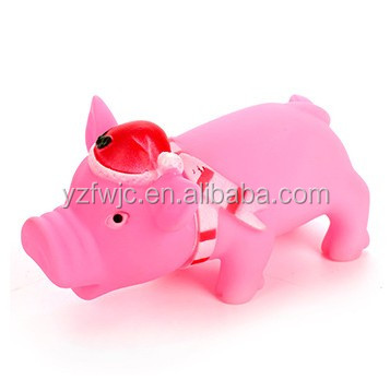 vinyl toy manufacturers mass-produced rubber Christmas pig funny pet toys