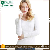 Customers Requirement Cashmere Pullover Woman Knitted