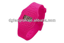 Fashion silicone watches top brand hongkong