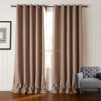 2016 Latest Designs Suede Eyelet Blockout Curtains