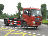 new model 12 cubic meters hydraulic hook lifting container trash truck