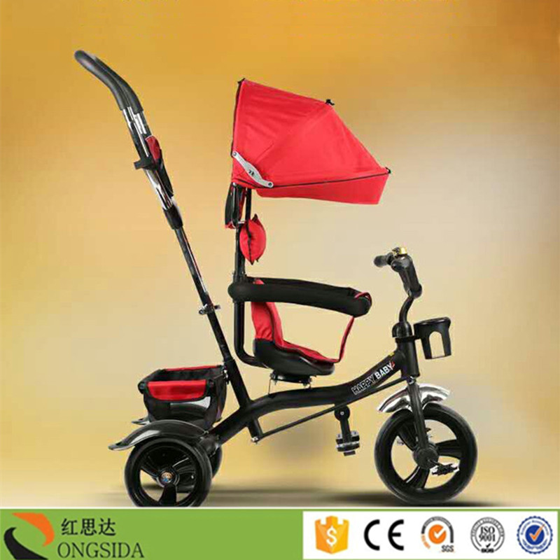 High Quality Baby Walker Tricycle 4 in 1 Kids Smart Trike Baby Stroller with Pedal and Push Handle