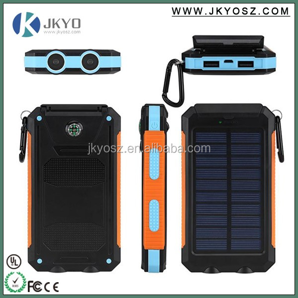 Hot new electronic products power bank, mobile solar charger, solar power bank IP67 waterproof