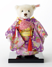 plush teddy with clothes japan sakura kimono white stuffed simulation bear