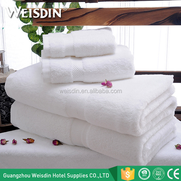 Factory wholesale hotel supplies custom logo white terry cotton hotels towel face towels